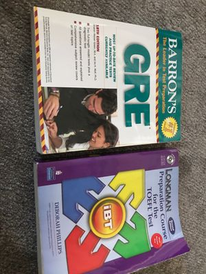 GRE TOEFL book with dvd for Sale in South Riding, VA