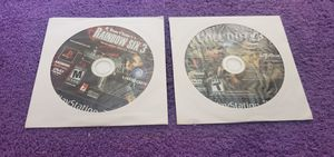CALL OF DUTY 3 & RAINBOW SIX 3 PS2 GAME DISC ONLY for Sale in Missouri City, TX