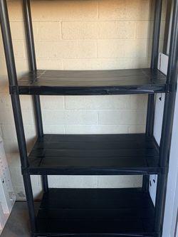 Black plastic shelving unit for Sale in Phoenix,  AZ