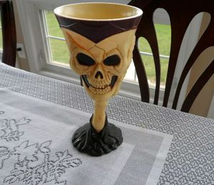 Morris costumes gothic skull bones cup vessel goblet for Sale in Martinsburg, WV