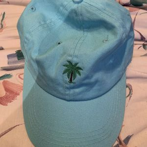 Blue Teal Turquoise Palm Tree Dad Hat Baseball Cap Adjustable for Sale in Centreville, VA