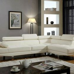 Antares White Modern Sectional $39 down payment only / for Sale in Arlington,  VA