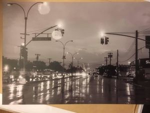 Pitkin Avenue on a Rainy Night: 8x12 High Res Fine Art Print for Sale in Freeport, NY