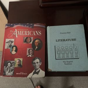 """The Americans"" History Book By Mcdougal Litell And Prentice-halls ""literature"" English Education Textbook for Sale in Brick Township, NJ"