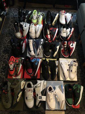 Nike air Jordan's Travis Scott air max 1s 3s 4s 6s size 8 9 9.5 10 10.5 11 13 6 for Sale in Bellevue, WA