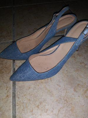 J crew denim kitten heels size 10 for Sale in Miami, FL