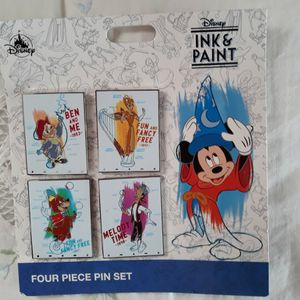 Disney Four Piece Pin Set INK & PAINT for Sale in Kissimmee, FL