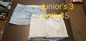Juniors size 3 and 5 jean skirts for Sale in Clermont, FL