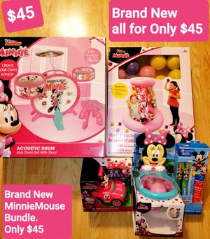 Only $45🌸Minnie Mouse Large Bundle. This Super Cute Bundle All For Only $45 !!! All Toys are Brand New for Sale in Plainfield, IL
