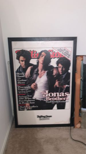 Jonas brothers rolling stone poster for Sale in Gaithersburg, MD