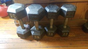 Two pair of dumbbells 25-35 pounds for Sale in Watchung, NJ