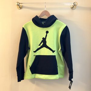 New Nike Jumpman Youth L Hoodie Pullover Neon Green Black Large NWT for Sale in Richmond, VA