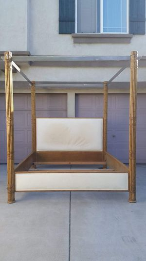 Cal King Canopy Bed Frame Bamboo Style Cama for Sale in Modesto, CA