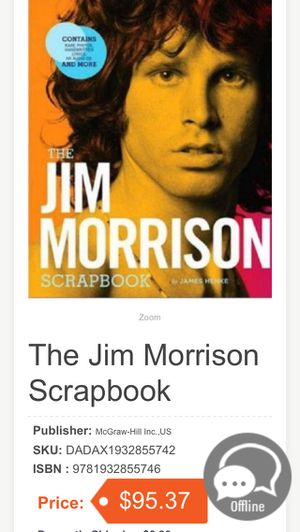 Jim Morrison scrapbook. Sells for 95.00 asking 45.00 for Sale in Banning, CA
