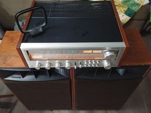 Vintage Realistic receiver stereo with speakers horns audiophiles for Sale in NEW PRT RCHY, FL