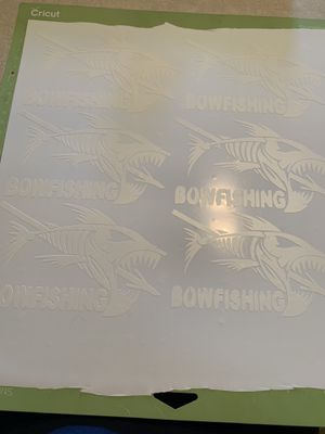 Bow fishing logo! $8 going fast! Can do any color and any size message me for details for Sale in Selma, AL