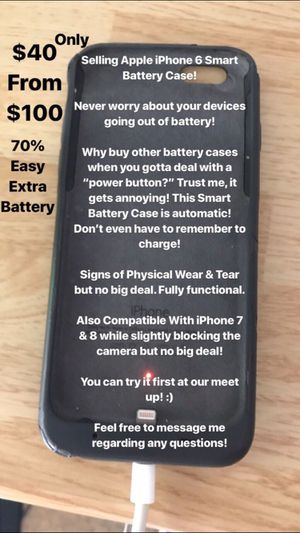 Apple iPhone 6 Smart Battery Case for Sale in Temple City, CA