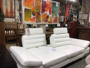 Sleek white Sofa for Sale in Portland, OR