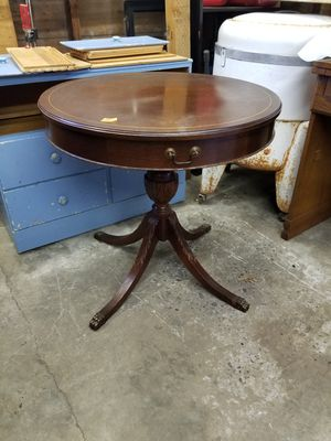 Round Mersman Side Table with Drawer for Sale in Portland, OR