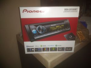 New!! Pioneer car stereo with Bluetooth. Includes 3 preouts. Great for hooking up a system. for Sale in Tolleson, AZ