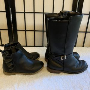 GAP girl ruffle short boots size 11 and Gymboree Riding boots 12 for Sale in Chicago, IL
