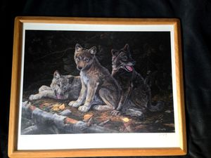 Terry Doughty Wolf Brothers- Signed Numbered Print for Sale in Eagle River, WI