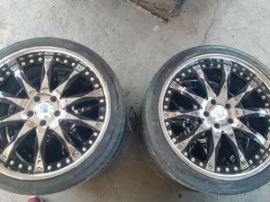 """Asanti 20"""" black with chrome rims and tires for Sale in Turlock, CA"""
