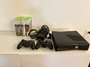 XBox 360 • 2 controllers • HDMI • 9 games for Sale in Denver, CO