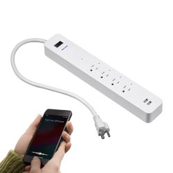 Wireless WiFi Smart Power Strip, 4 Individually Controlled Outlets, 2 Always-On USB Ports  for Sale in Montclair, CA