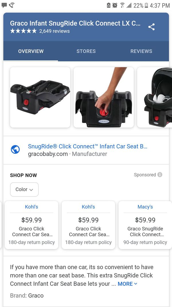 Graco Click Connect Carseat BASE