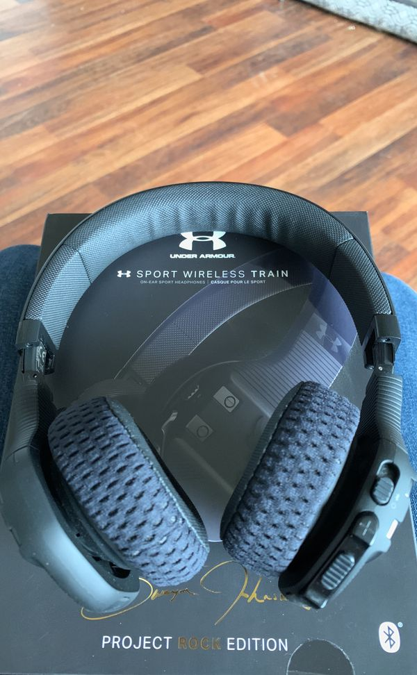 Under Armour Project Rock Edition Wireless Headphones Sport Train