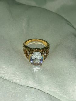 18 K Gold Plated Engagement Ring, Size 8. for Sale in Dallas,  TX