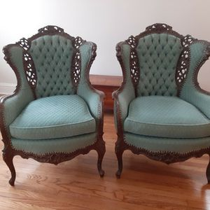 Hand Carved Matching Chairs for Sale in Riverside, IL