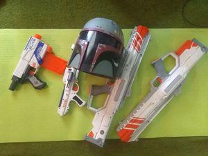 Nurf/Star Wars Guns (helmet included) for Sale in Fairburn, GA