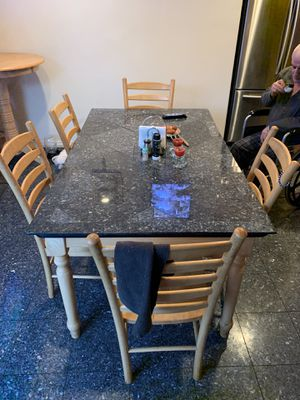Kitchen table, chairs, bench and high table/chair for Sale in Los Angeles, CA