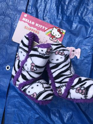 New hello kitty fuzzy slippers for Sale in Fairfax Station, VA