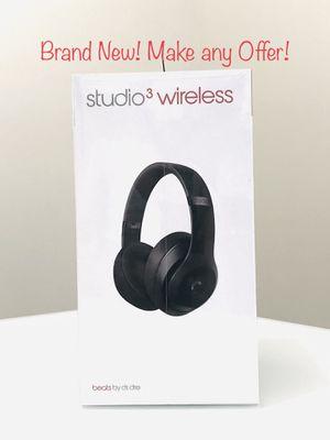 Beats Studio3 Wireless Over‑Ear Headphones - Matte Black for Sale in Brooklyn, NY