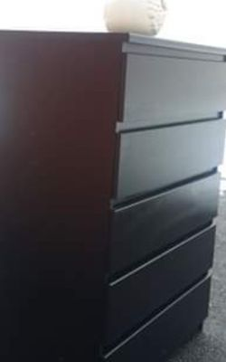 IKEA BLACK 5 BIG DRAWER CHEST GREAT CONDITION for Sale in Fairfax,  VA