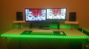 Custom built gaming desk with gaming computer for Sale in Parma, OH