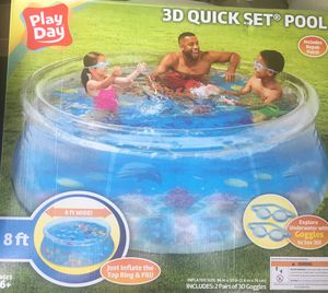 8 Ft 3D Quick Set Pool - PlayDay for Sale in Beltsville, MD
