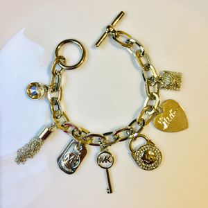 "Mk Michael kors charms bracelet jewelry accessory size 7.5"" jewelry accessory for Sale in Spencerville, MD"