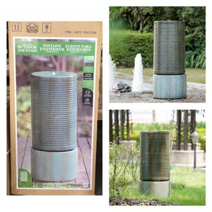 Modern Ribbed Self-contained Outdoor Fountain for Sale in Stafford, TX
