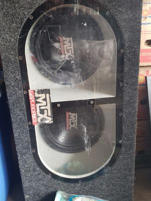 Mtx subwoofers and box for Sale in Beaverton, OR