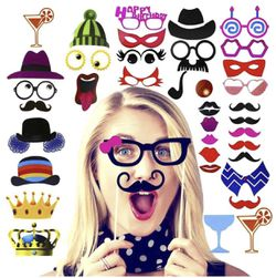 Amcooz Photo Booth Props with Emojis for Birthday, Wedding,Graduation 2018, Party - DIY photo booth Fun Accessories [90 PCS] for Sale in Sunnyvale,  CA