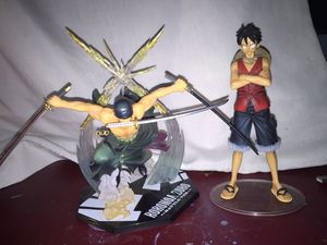 Roronoa Zoro, Monkey D. Luffy action figures for Sale in Raleigh, NC
