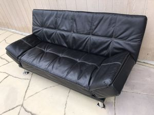 Faux Leather Futon for Sale in Pomona, CA