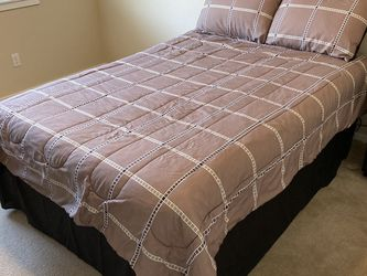 Full Size Mattress, box springs, frame, and bedding for Sale in Bothell,  WA
