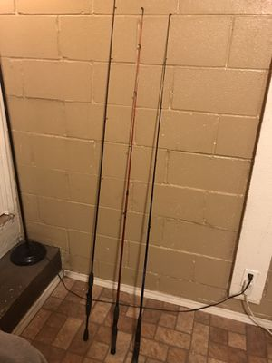 3 micro fishing poles. for Sale in Austin, TX