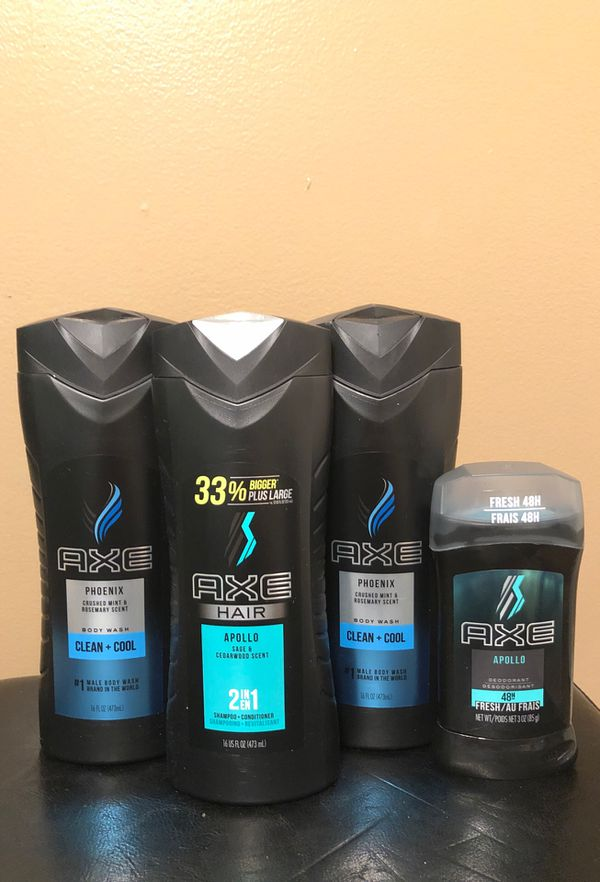 Axe men hair and body set
