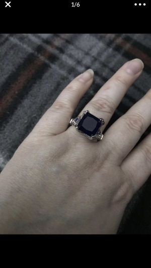 Nice sliver plated vintage blue stone ring for Sale in San Bernardino, CA
